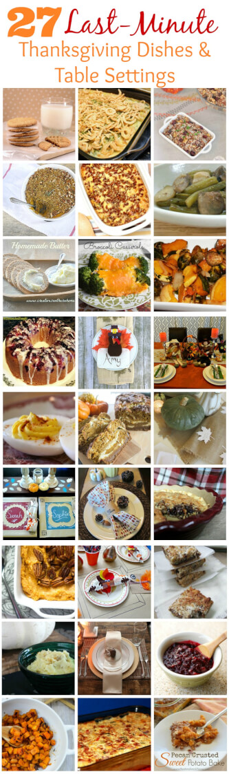 Last-Minute Thanksgiving Dishes and Table Setting Ideas