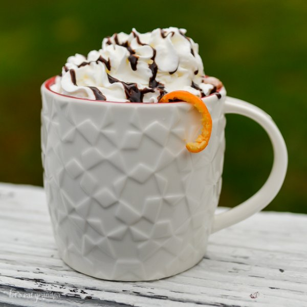 This orange hot chocolate is a deliciously orange twist on a classic favorite!