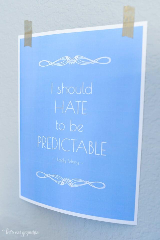 free Downton Abbey quote printable