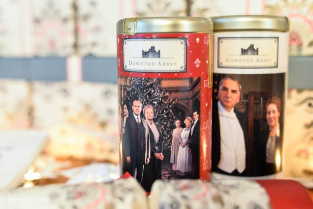 Downton Abbey tea containers