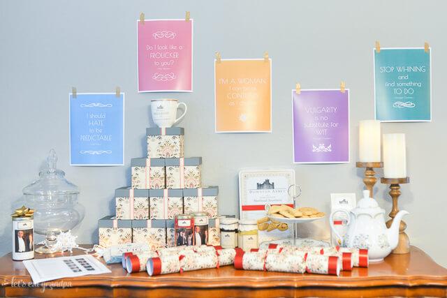 Downton Abbey tea party decorations