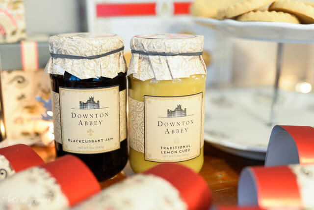 Downton Abbey lemon curd and blackberry jam