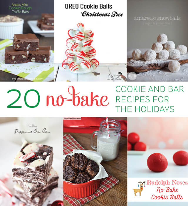 No time to bake? Here are 20 no-bake cookie and bar recipes that are perfect for the holidays!