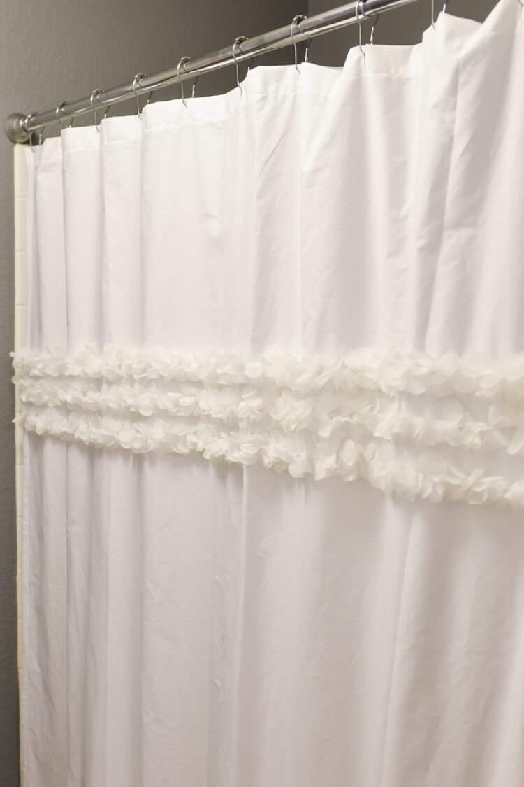How To Make A Shower Curtain From A Flat Sheet Hey Let