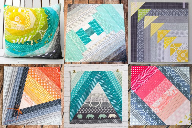 photo collage of various quilt as you go projects