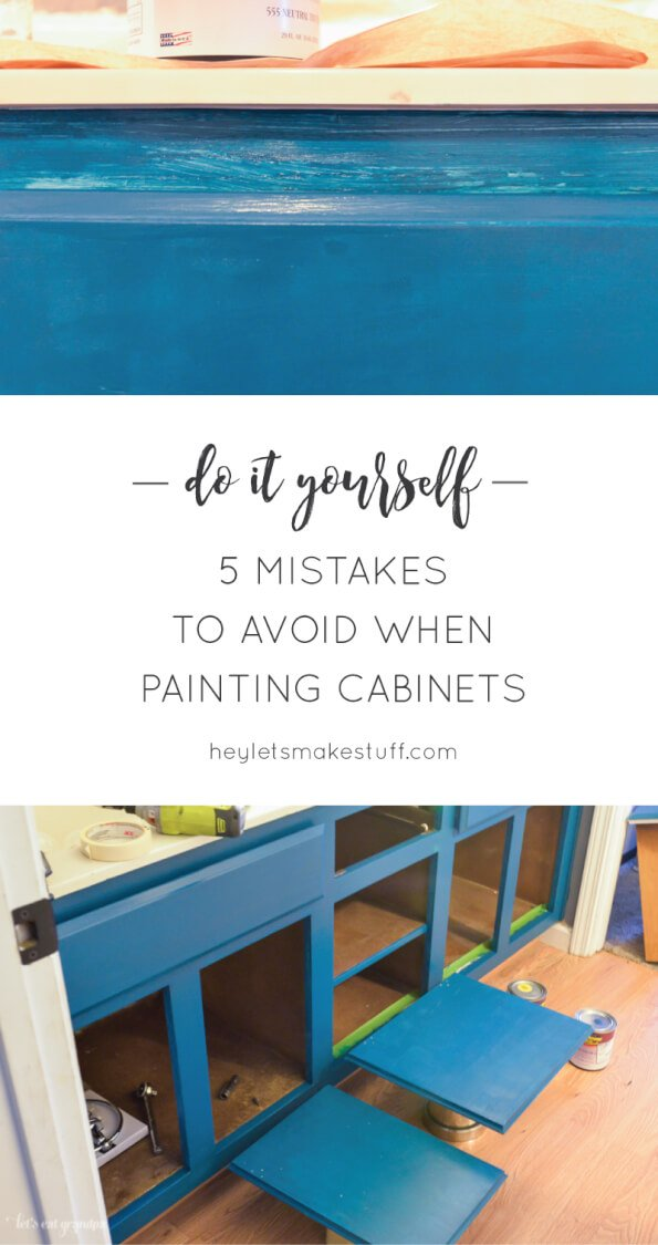 Make painting your cabinets easier -- avoid these common mistakes!