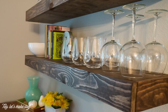 Lacking Storage Space? Build Some Chunky Floating Shelves    Both Beautiful  And Practical!