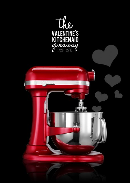 Win a Kitchen Aid Mixer for Valentine's Day!