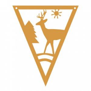Woodland Deer Pennant