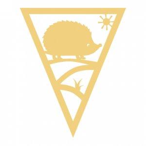 Woodland Hedgehog Pennant