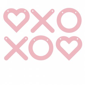 XOXO Heart Garland
