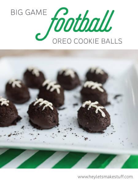 OREO Cookie Ball Footballs are super easy to make -- just three ingredients! #cbias #shop #OREOcookieballs