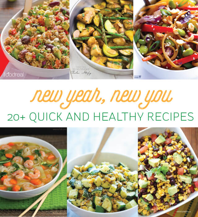It's the new year! Start the year off right with these healthy recipes.