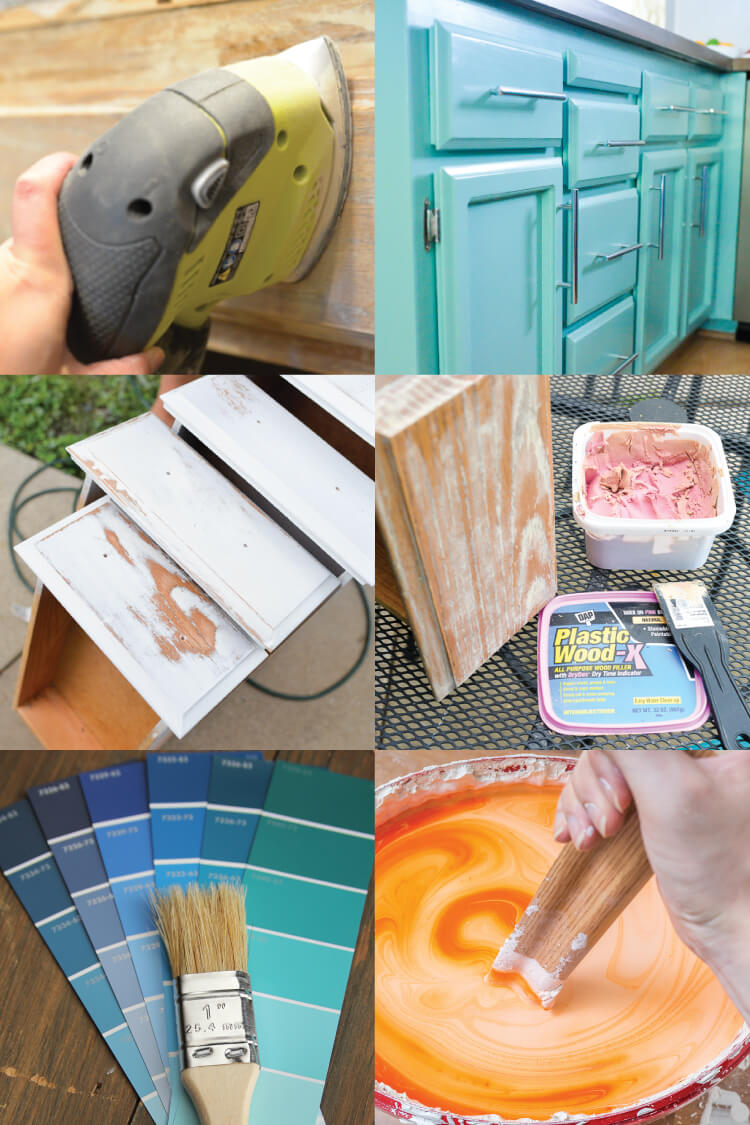 Painting cabinets in your house? Here are great before and afters, as well as cabinet painting tips and tricks to help make sure you get it right the first time!