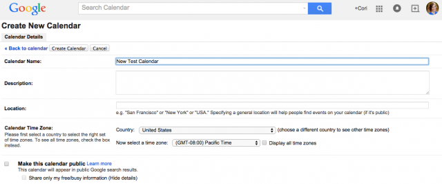 how to create event in google calendar by email