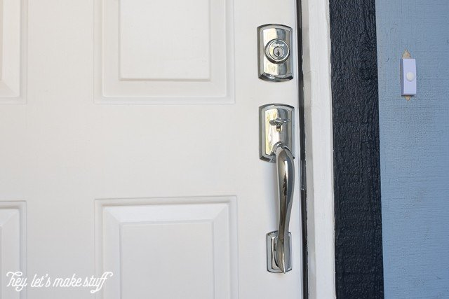 new chrome door handle for entryway