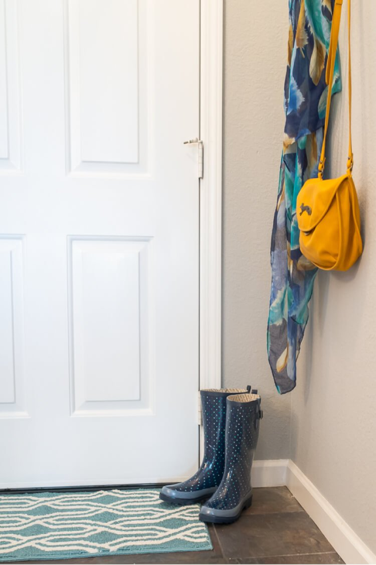 Have a small entryway? From dated country to modern and a little industrial, it's easy to make big changes even if you have a tiny foyer!