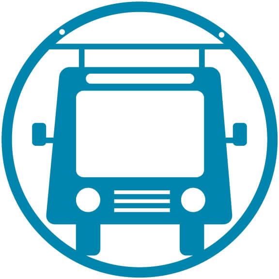 Around the World Pennants Bus