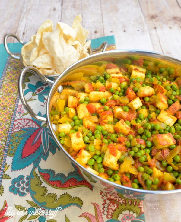 Matter Paneer (Indian Peas and Cheese) is one of my favorite dishes! Here's how to make it -- including instructions on how to make your own cheese. It's easy!