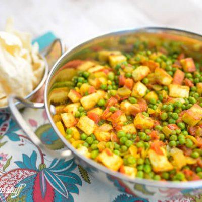 Mattar Paneer – Indian Homemade Cheese and Peas
