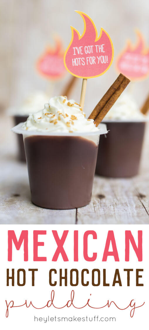 Get the spice and flavor of Mexican Hot Chocolate in your pudding! Add a few simple ingredients to a pudding cup and enjoy this treat on Valentine's Day or any other day of the year when you're feeling spicy.