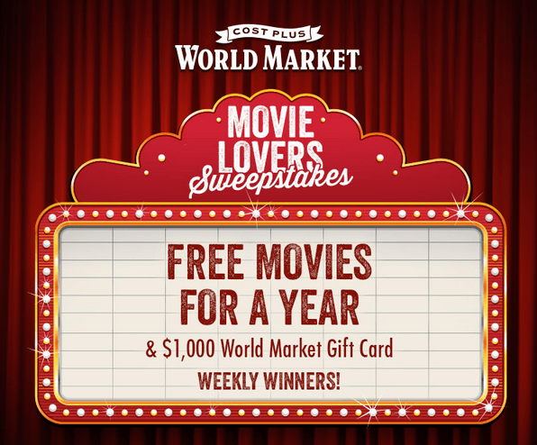 Movie Lovers Sweepstakes from World Market