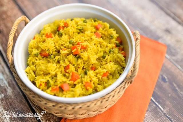 Sabzi Pilau, an Indian spiced rice dish, is a perfect accompaniment to other ethnic food dishes, and it's super simple to make -- and beautiful on a table!