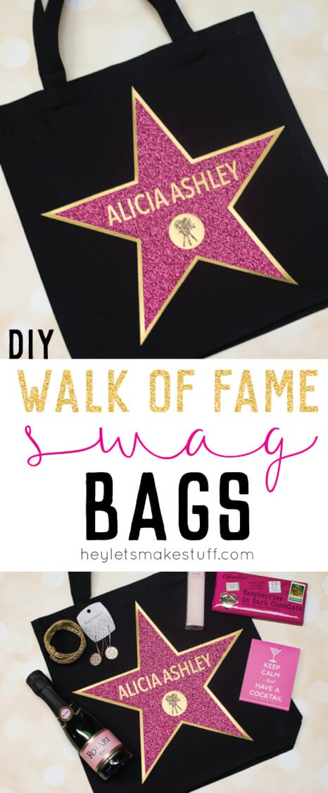 This Hollywood Walk of Fame Swag Bag is the perfect party favor for an Oscar party! Fill with all sorts of fun goodies for your guests and make them feel like a star!
