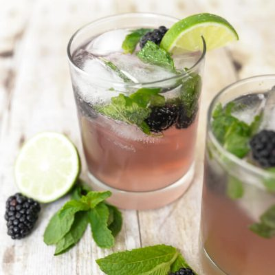 Blackberry Fauxjito + Pregnancy-Friendly Party Tips
