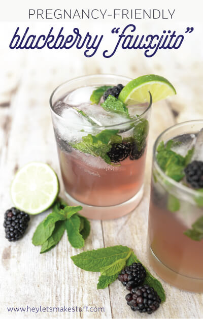 "This blackberry ""fauxjito"" is the perfect drink for your pregnant friends at a party! Learn to make it, and get other pregnancy-friendly party tips."