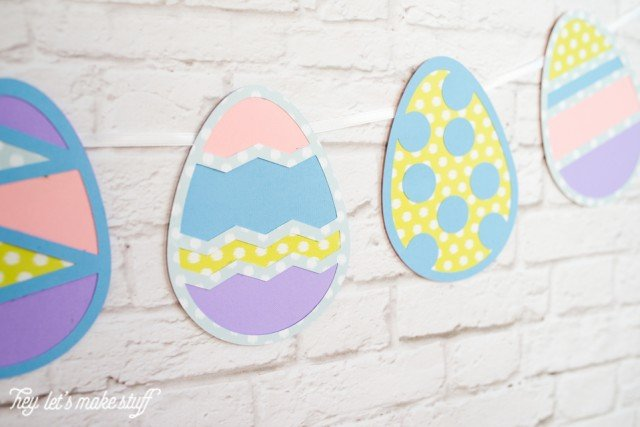 Easter egg cut files hung as a banner