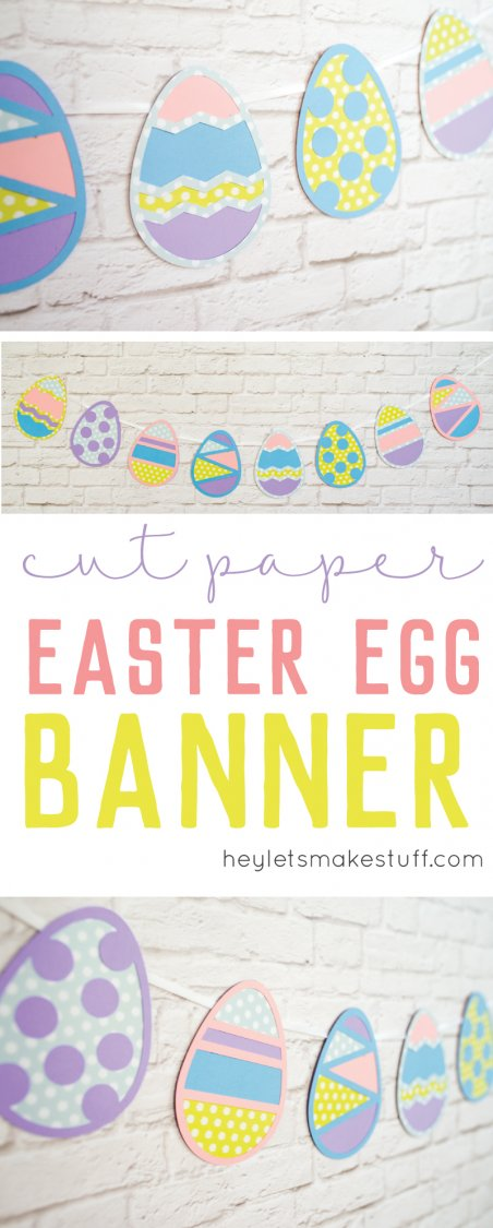 Easter egg cut files hung as a banner pin image