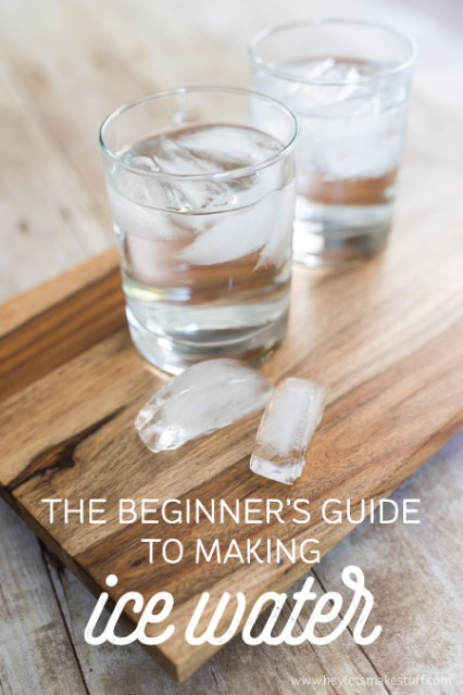 Making ice water is one of those things that seems simple. But if it's so simple, why do you so often mess it up? Here's a tutorial just in case this tasty treat is a little too advanced for your kitchen skills.