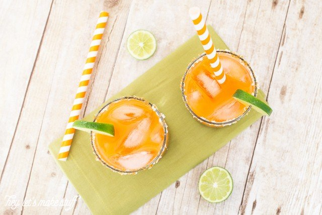 Take a plain jane margarita and spice it up! This zesty carrot margarita has a ton of personality and is perfect for Cinco de Mayo and other fun summer parties.