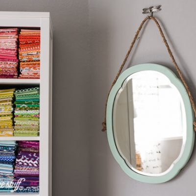 Upcycled Mirror Makeover