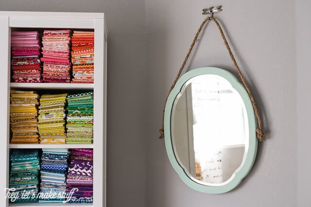 An old mirror gets new life with chalk paint, rope, and a decorative hook!