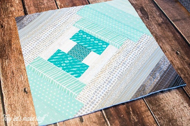 Using the quilt-as-you-go technique, you can make this Step It Up quilt block! Check out this blog for other quilting tutorials, too.