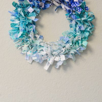 Ombre Rag Wreath
