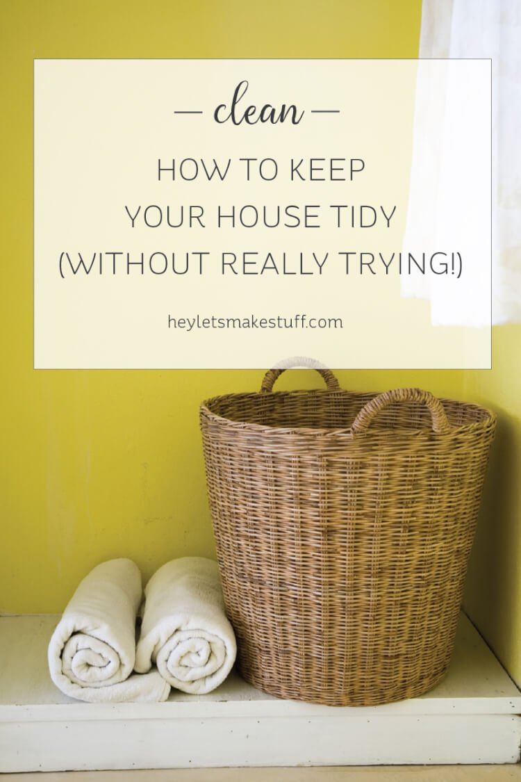Our house is usually tidy. We're not clean freaks, but for the most part, our house stays neat (of course, we all have our moments!). I chalk it up to a method of cleaning that I invented for myself years ago. Basically I play an all-day game to keep the place tidy and chaos at bay. cleaning | home | tidy | chores