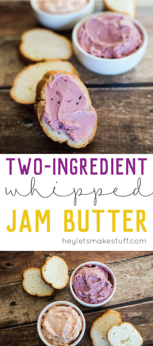 This light and creamy whipped jam butter is perfect for brunch -- and it won't destroy your rolls when you try to spread it on!