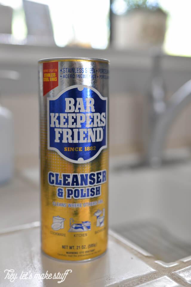 closeup of bar keeper's friend cleaner