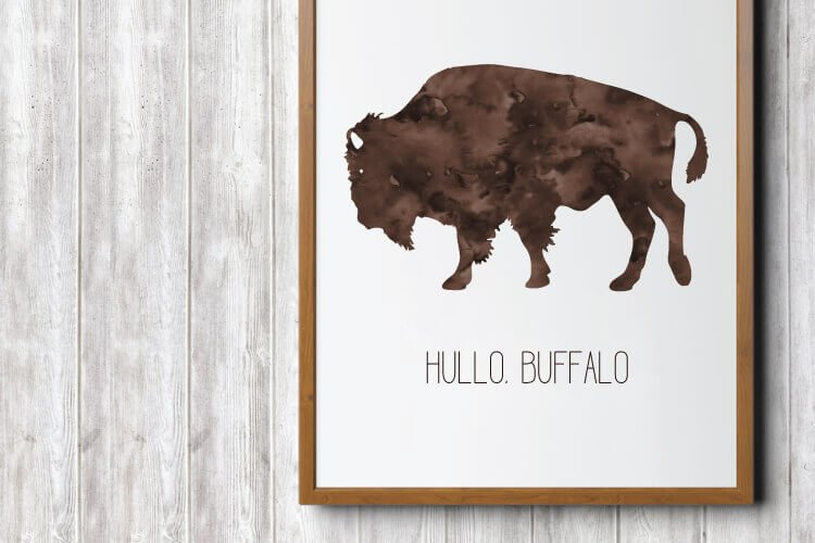 Hullo Buffalo -- Get this free printable in three sizes for a variety of printing options.