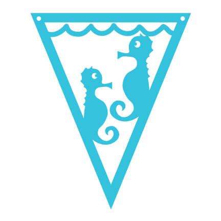 Under the Sea Pennants Sea Horse