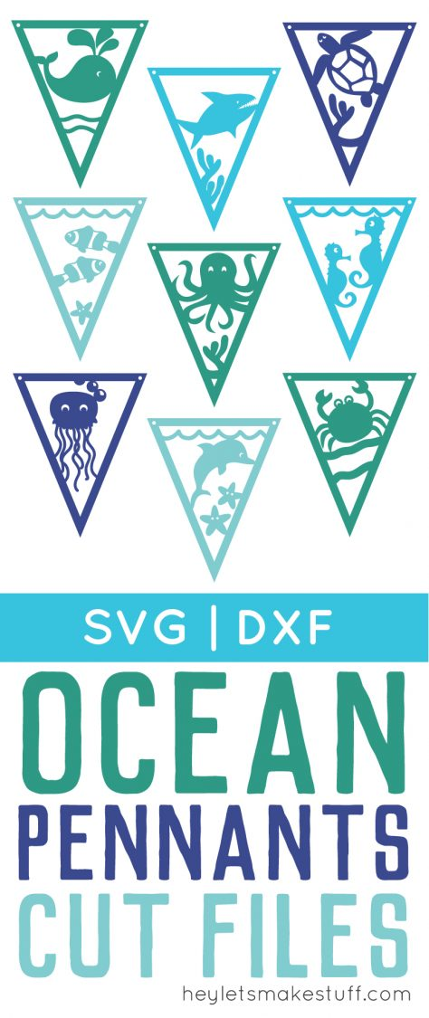 Under the Sea pennants from cutting machine pin image