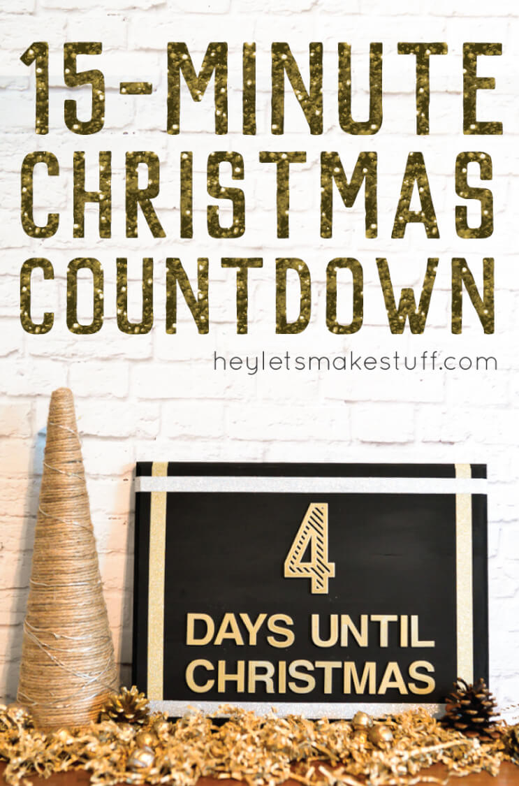 This Christmas Countdown craft is super easy to make and totally glam -- it took me just 15 minutes to put together!