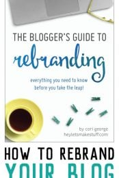 Looking to rebrand or redesign your blog? This book will teach you tips and tricks for rebranding and walk you through the process start to finish.