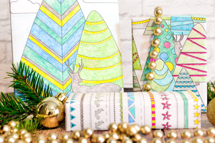 printable coloring page wrapping paper hey let s make stuff