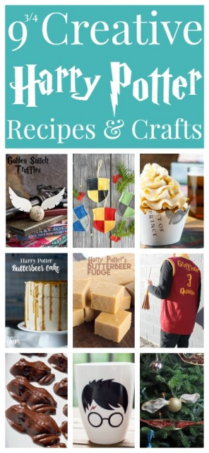 Don your robe, grab your wand, and make some of these magical Harry Potter recipes and crafts!