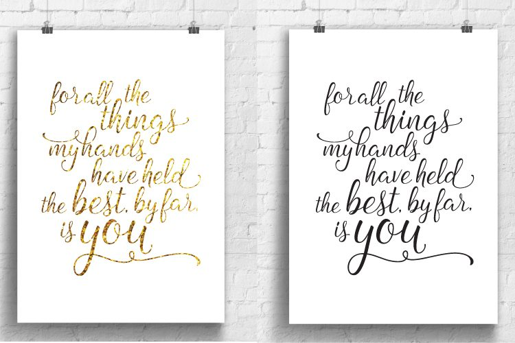 Free printable for your nursery with the Andrew McMahon in the Wilderness lyrics: for all the things my hands have held, the best, by far, is you.