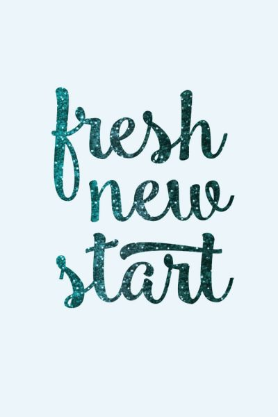 Freebie Friday! Download this digital wallpaper for your phone or computer to remind yourself that every day is a fresh new start!
